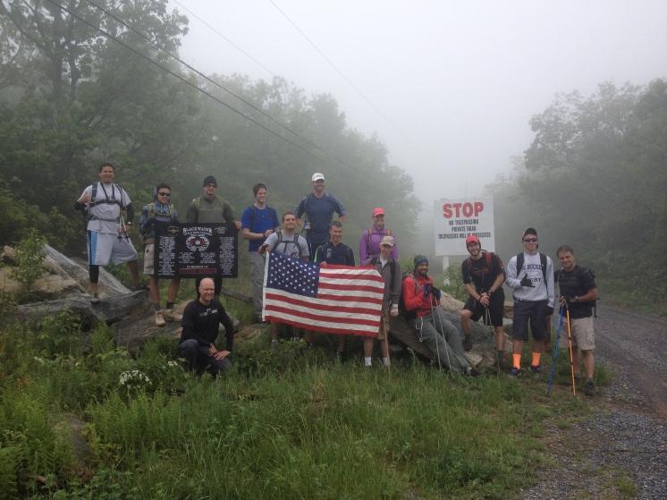May 2014 - Tuscarora Trail Hike for Team Racing 4 Veterans